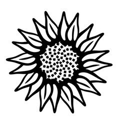 garden flower icon simple style vector image