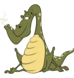Green dragon Cartoon vector image