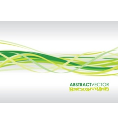 Green spiral lines vector