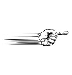 hand pointing concept vector image