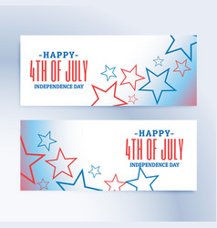happy 4th of july independence day banners vector image
