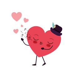 heart love kawaii character vector image