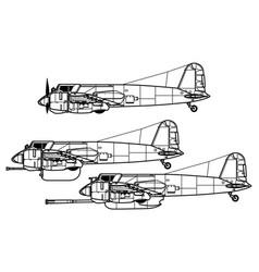 henschel hs 129 vector image