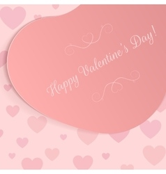Holiday pink big heart banner with text vector