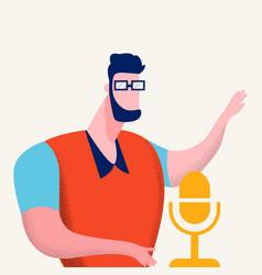 Internet podcasting program vector
