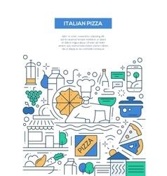 Italian Pizza - line design brochure poster vector