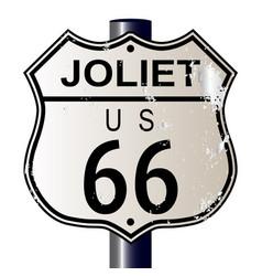 Joliet route 66 sign vector