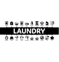 laundry service minimal infographic banner vector image