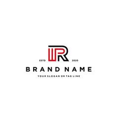Letter wpr logo design vector