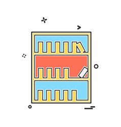 library icon design vector image