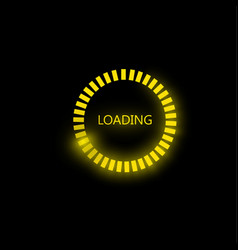 loading icon on black vector image
