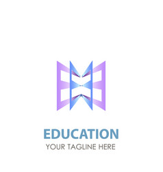 logo education book school design icon template vector image
