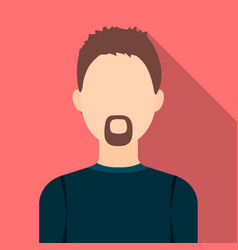 Man with a beard icon flat single avatarpeaople vector