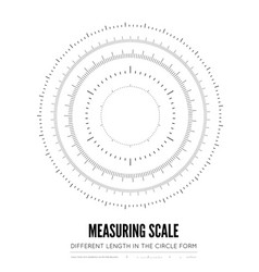 measuring rulers of different scale length and vector image