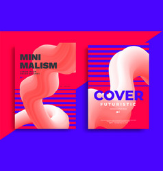 Minimal poster layout with vibrant gradient blurs vector