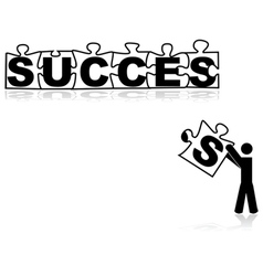 Missing piece for success vector image