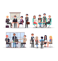 office workers at business meeting and conference vector image