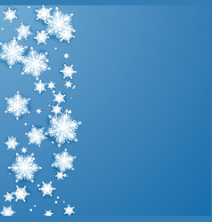 origami snowflakes border christmas and new year vector image