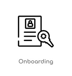 Outline onboarding icon isolated black simple vector