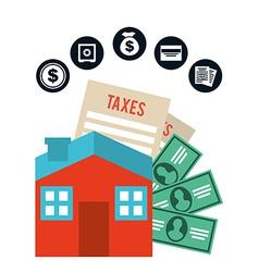 pay taxes vector image