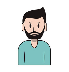 Person upper body cartoon vector