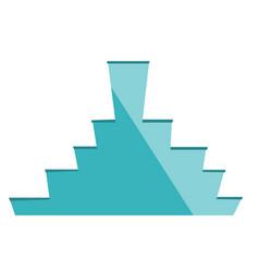 Podium with stairway cartoon vector