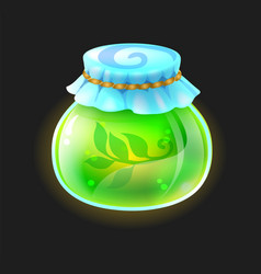 potion bottle cartoon elixir bottle phial with vector image