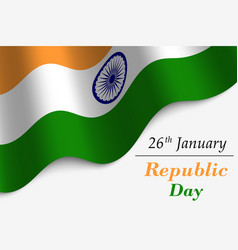 republic day of india vector image