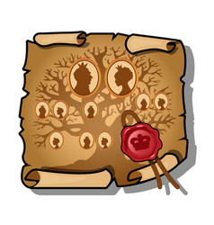 royal bloodline is depicted on a sheet of vector image