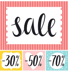 Sale tags desing set vector