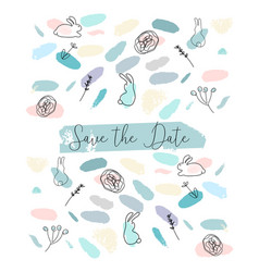 save the date abstract soft design wit different vector image