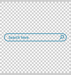 search bar field interface element with search vector image