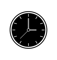 Silhouette clock time watch work icon vector