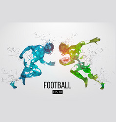Silhouette of a american football rugby vector