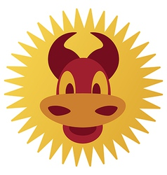 Smiling cartoon bull vector