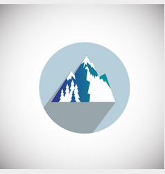 snowy mountain resort on flat background vector image