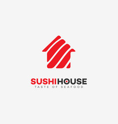 Sushi house logo vector