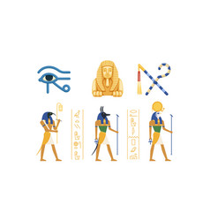 traditional cultural and historical symbols of vector image