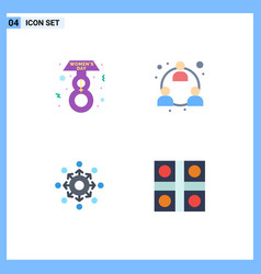 User interface pack 4 basic flat icons of vector