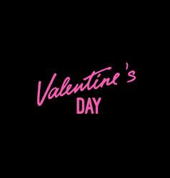 valentines day handwritten lettering label vector image
