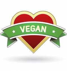 vegan food and product label vector image