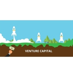 Venture capital launch their startup vector