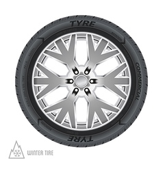 Winter tire abstract vector