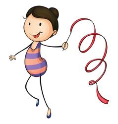 Active kid vector image