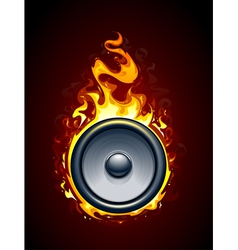 Burning speaker vector image
