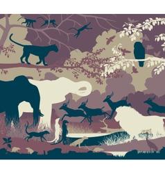 Jungle vector image vector image