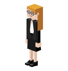 Lego female judge with glasses vector