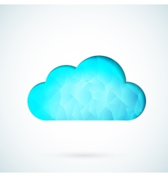 Blue cloud geometric background vector image vector image