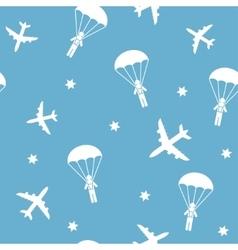 Cartoon Airplane seamless pattern vector image vector image