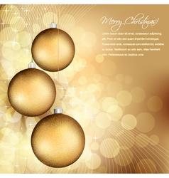 golden christmas design vector image